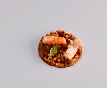 Cangrejo de río guisado con arroz