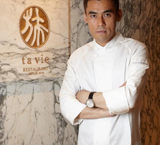 Hideaki Sato en su restaurante Ta Vie