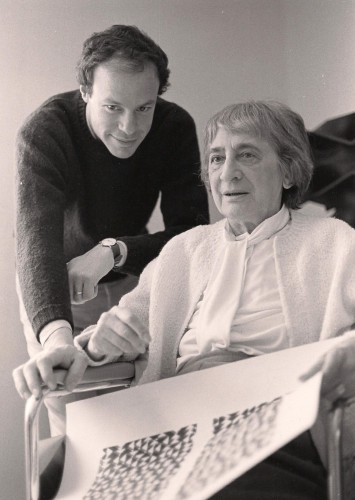 Nick Fox Weber and Anni Albers Photo by Faith Haacke 1981