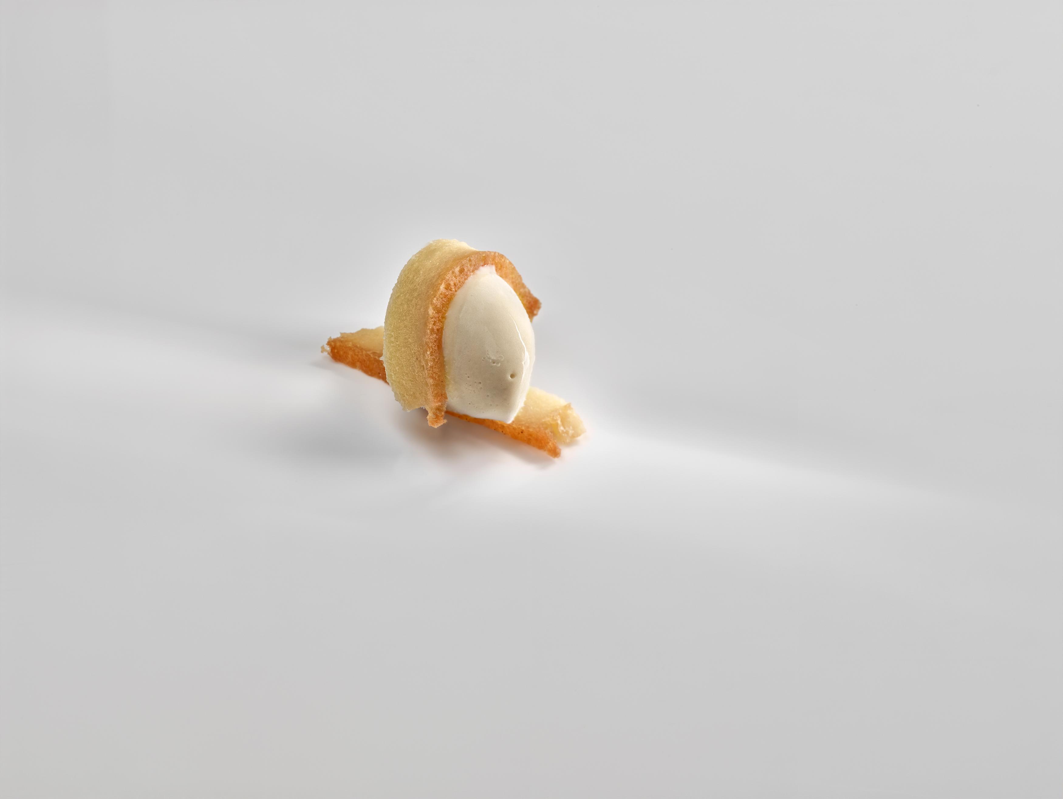 Pastel de yuca y helado de plátano